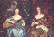 Sir Peter Lely Two ladies from the Lake family, china oil painting reproduction