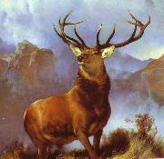 Sir edwin henry landseer,R.A. Monarch of the Glen by Sir Edwin Landseer china oil painting reproduction