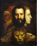 Titian The Allegory of Age Governed by Prudence is thought to depict Titian, china oil painting reproduction