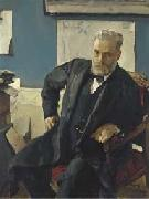 Valentin Serov Portrait of Emanuel Nobel, china oil painting reproduction