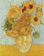Vincent Van Gogh Vase with Twelve Sunflowers, August china oil painting reproduction