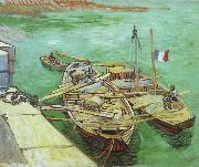 Vincent Van Gogh The Rhonebarken, china oil painting reproduction