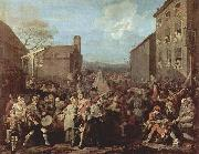 William Hogarth March of the Guards to Finchley china oil painting reproduction