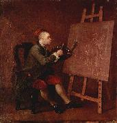 William Hogarth Hogarth Painting the Comic Muse china oil painting reproduction