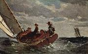Winslow Homer Breezing Up china oil painting reproduction