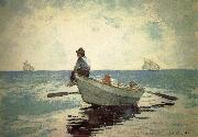 Winslow Homer Small fishing boats on the boy china oil painting reproduction