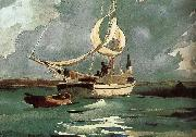Winslow Homer Sailing china oil painting reproduction