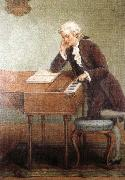 antonin dvorak a romantic artist s impression of mozart composing china oil painting reproduction