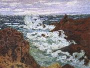 cesar franck an impressionist seascape storm at agay china oil painting reproduction