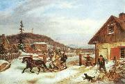 Cornelius Krieghoff The Toll Gate, china oil painting reproduction