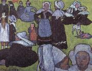 Emile Bernard breton women in meadow china oil painting reproduction