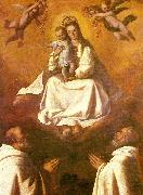 Francisco de Zurbaran the virgin of mercy with two mercedarians china oil painting reproduction