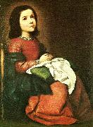 Francisco de Zurbaran girl virgin at prayer china oil painting reproduction
