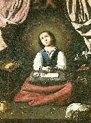 Francisco de Zurbaran the virgin as a girl, praying china oil painting reproduction