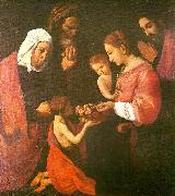 Francisco de Zurbaran the holy family, st. joaquim and st. china oil painting reproduction