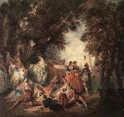 LANCRET, Nicolas Company in the Park china oil painting reproduction