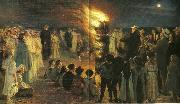 Peter Severin Kroyer sankt hansblus pa skagen strand china oil painting reproduction