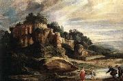 RUBENS, Pieter Pauwel Landscape with the Ruins of Mount Palatine in Rome china oil painting reproduction