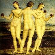 Raphael three graces muse'e conde,chantilly china oil painting reproduction