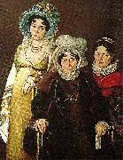 Sir David Wilkie mme morel de tangry and her daughters china oil painting reproduction