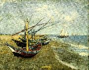 Vincent Van Gogh fiskear pa stranden vid saintes-mariesbat china oil painting reproduction