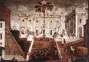 Agostino Tassi Competition on the Capitoline Hill china oil painting reproduction