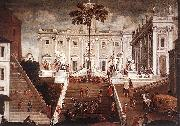 Agostino Tassi Competition on the Capitoline Hill oil