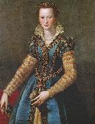 Alessandro Allori Portrait of Eleonora oil