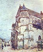 Alfred Sisley Church at Moret after the Rain china oil painting reproduction