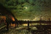 Atkinson Grimshaw In Peril china oil painting reproduction
