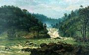 Benedito Calixto Waterfall on Sorocaba River china oil painting reproduction