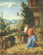 CIMA da Conegliano Hieronymus in einer Landschaft china oil painting reproduction