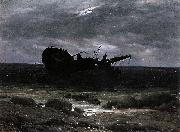 Caspar David Friedrich Wreck in the Moonlight china oil painting reproduction