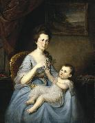 Charles Willson Peale Mrs. David Forman and Child china oil painting reproduction