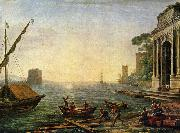 Claude Lorrain Seehafen beim Aufgang der Sonne china oil painting reproduction