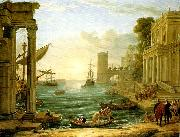 Claude Lorrain seaport with the embarkation of the queen of sheba china oil painting reproduction