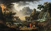 Claude-joseph Vernet Mountain Landscape with Approaching Storm china oil painting reproduction