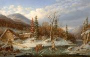 Cornelius Krieghoff Winter Landscape Laval china oil painting reproduction