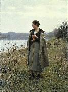 Daniel Ridgway Knight The Shepherdess of Rolleboise china oil painting reproduction