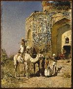 Edwin Lord Weeks Old Blue Tiled Mosque Outside of Delhi India oil painting picture wholesale