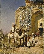 Edwin Lord Weeks The Old Blue-Tiled Mosque Outside of Delhi, India oil painting picture wholesale
