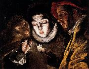 El Greco Allegory with a Boy Lighting a Candle in the Company of an Ape and a Fool china oil painting reproduction