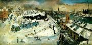 Eric Hallstrom torsgatan i sno china oil painting reproduction