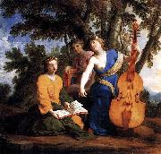 Eustache Le Sueur Melpomene Erato et Polymnie china oil painting reproduction