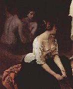 Francesco Hayez Bad der Nymphen, Detail china oil painting reproduction