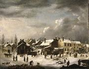 Francis Guy Winter Scene in Brooklyn china oil painting reproduction