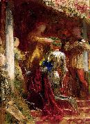 Frank Bernard Dicksee Victory, A Knight Being Crowned With A Laurel-Wreath china oil painting reproduction
