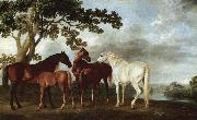 George Stubbs Stuten und Fohlen in einer Flublandschaft china oil painting reproduction