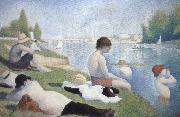 Georges Seurat batbers at asnieres oil painting picture wholesale