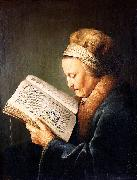 Gerard Dou Portrait of an old woman reading china oil painting reproduction